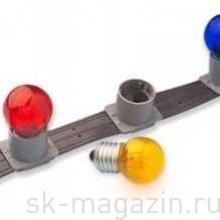 """Гирлянда """"LED Bulb String"""", 30 ламп, 10 м, цвет красный, провод белый каучук"""