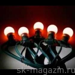 """Гирлянда """"LED Bulb String"""", цвет красный"""