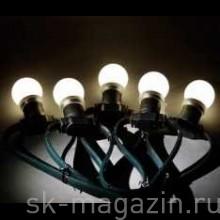 """Гирлянда """"LED Bulb String"""", цвет тёплый белый"""