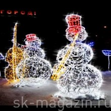 Снеговик-музыкант, 2м (под заказ)