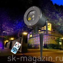 Цветной светодиодный проектор для деревьев и зданий. Цвет: красный+синий