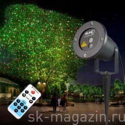 Цветной светодиодный проектор для деревьев и зданий. Цвет: зелёный+красный
