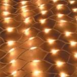 Светодиодная сетка 2 x 3 м, тёплый белый цвет, провод прозрачный