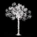 Светодиодное дерево, 2М, холодный белый цвет, ствол белый