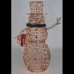 Светодиодный снеговик, 150см, теплый белый цвет