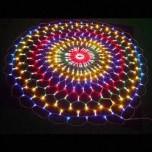Светодиодная сеть, мульти, круглая, d 4 м