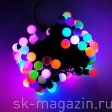 Гирлянда с маленькими шариками (d 1,75см), RGB, длина 10м