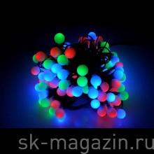Гирлянда с маленькими шариками (d 1,5см), RGB, мерцает, длина 10м