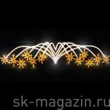 """Светодиодное панно """"Фейерверк-Звездопад"""", 90*300см"""