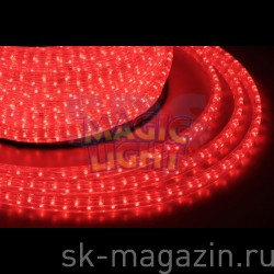 Дюралайт 11x28 мм, 5-жильный, шаг резки 2м, красный, мерцает