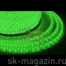 Дюралайт 11x18 мм, 2-х жильный, шаг резки 2м, зеленый, не мерцает