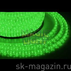 Дюралайт 13 мм, 2-х жильный, шаг резки 1м, зеленый, не мерцает