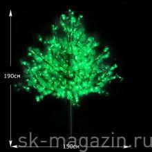 """LED дерево """"Клен"""" зеленый 1,9 м 538 светодиодов"""