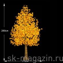 """LED Дерево """"Клен"""",2,8 м теплый белый,высота 1976 светодиодов"""