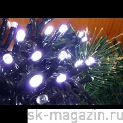 Гирлянда светодиодная нить, 120 светодиодов, 12 м., цвет холодный белый
