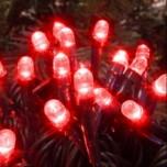 Гирлянды для деревьев светодиодная, 3 луча по 20 м, красная