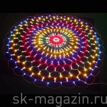 Светодиодная сеть, мульти, круглая, d 4 м, 8 функций мерцания