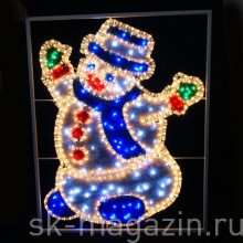 Снеговик, 0.7 х 0.55м