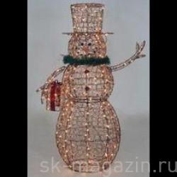 Снеговик светодиодный коричневый, 150см
