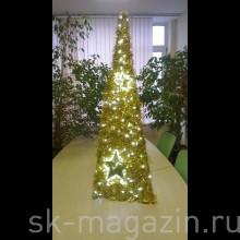 светодиодная ёлка 1.2м, золотая