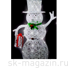 """Светодиодный """"Снеговичок"""", высота 80см, холодный белый цвет"""