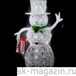 """Светодиодный снеговик """"Папа"""", высота 150см, холодный белый цвет"""