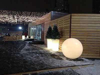 Использование светодиодного шара в интерьере
